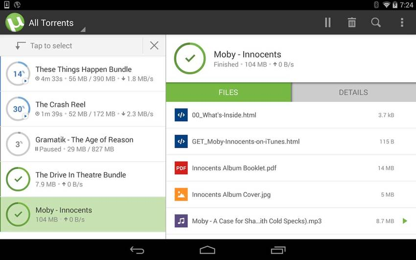 µTorrent pour Android