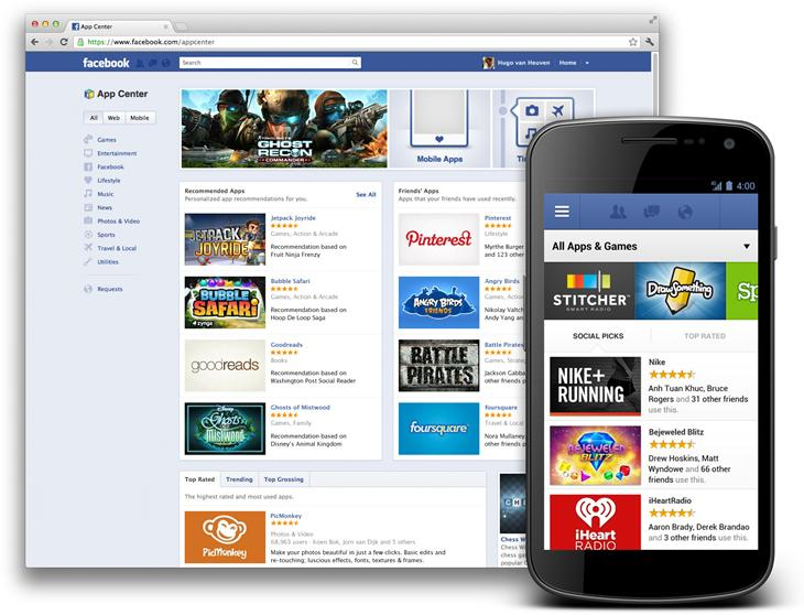 Facebook app center alternative google play store android sélection TOP