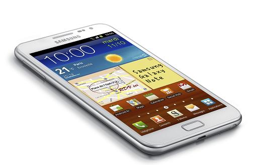 Probleme Samsung Galaxy Note Mise a jour Ice Cream Sanwich 4.0.3 SAV AlloPSM
