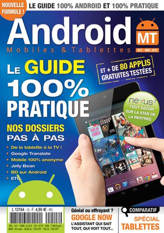 Couverture magazine Android MT numero 7 octobre novembre 2012