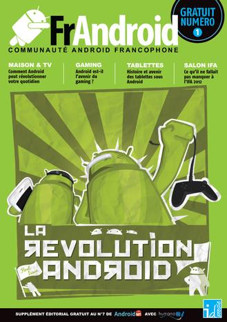Couverture FrAndroid numéro 1 - supplément Android MT - Parution Octobre-Novembre 2012