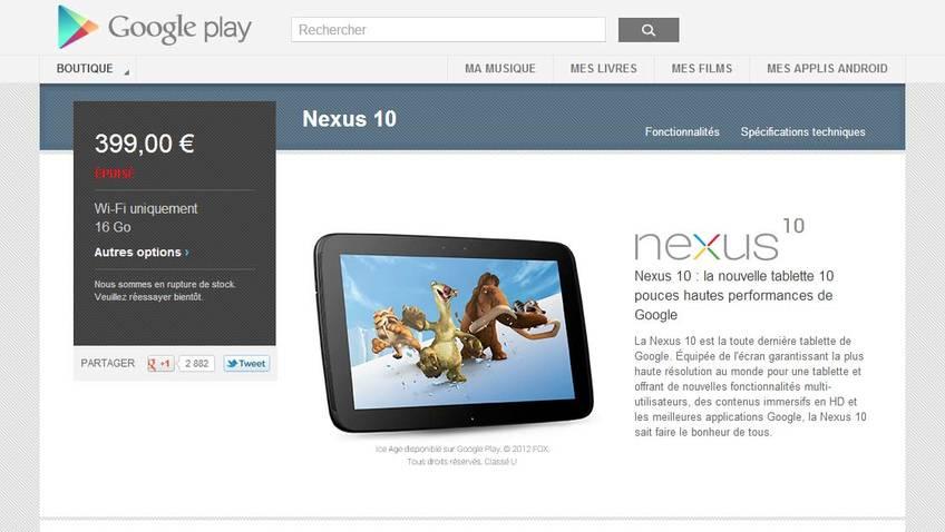 nexus 10 fail