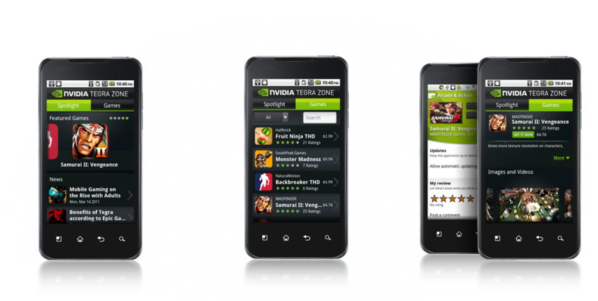tegra zone application meilleurs jeux android