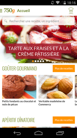 750g : recettes de cuisine android mt