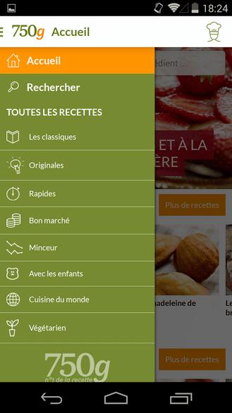 G Recettes De Cuisine Android MT - Appli cuisine