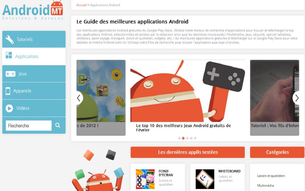 moteur de recherche applications android gratuites payantes filtres Main 3 mars 2013