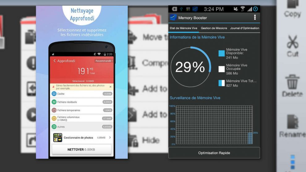 application pour booster android