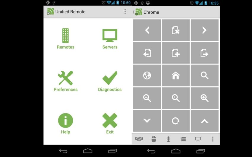 unified remote une t l commande pour ordinateurs android mt. Black Bedroom Furniture Sets. Home Design Ideas