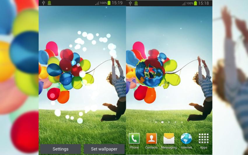 L'application du jour : Galaxy S4 fond d'écran animé