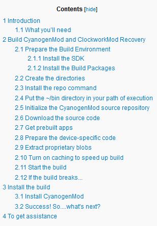 La procédure pour installer la ROM CyanogenMod sur un Galaxy Note 2