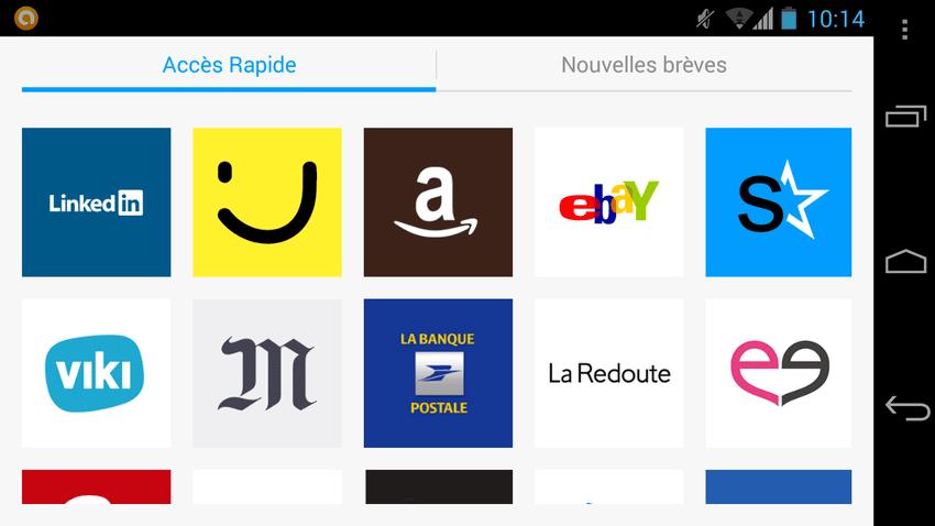 Maxthon Android Web Browser vous permet de mémoriser vos sites favoris et d'y accéder plus rapidement.