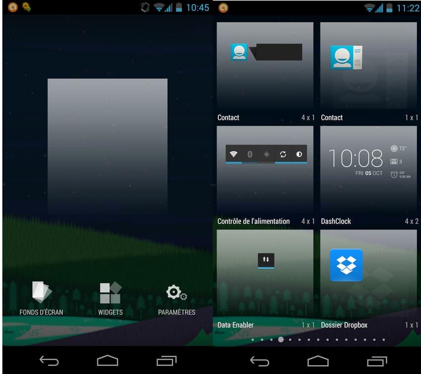 Le grand retour de l'implémentation rapide des Widgets sur Android 4.4 KitKat.