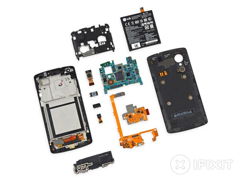 Les composants du Nexus 5