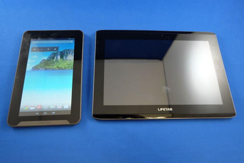 La Medion Lifetab E7311 dispose de contours d'écran très larges.