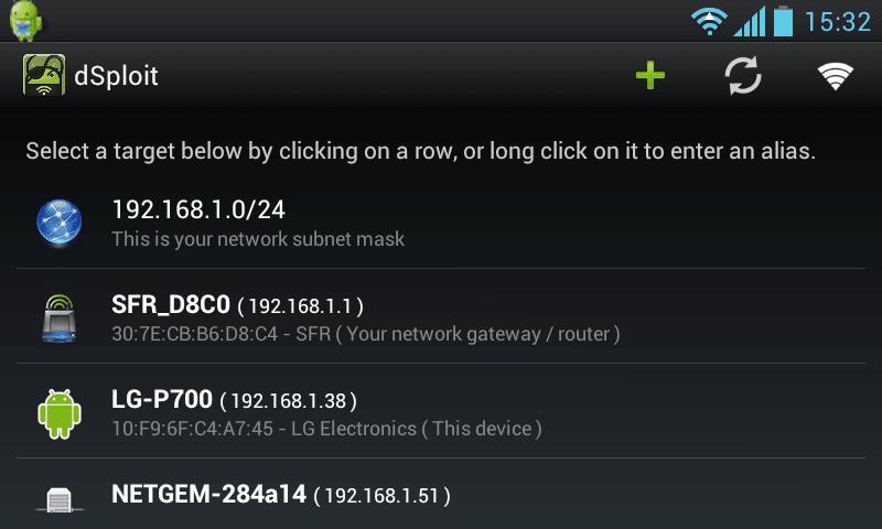dsploit tester wi-fi