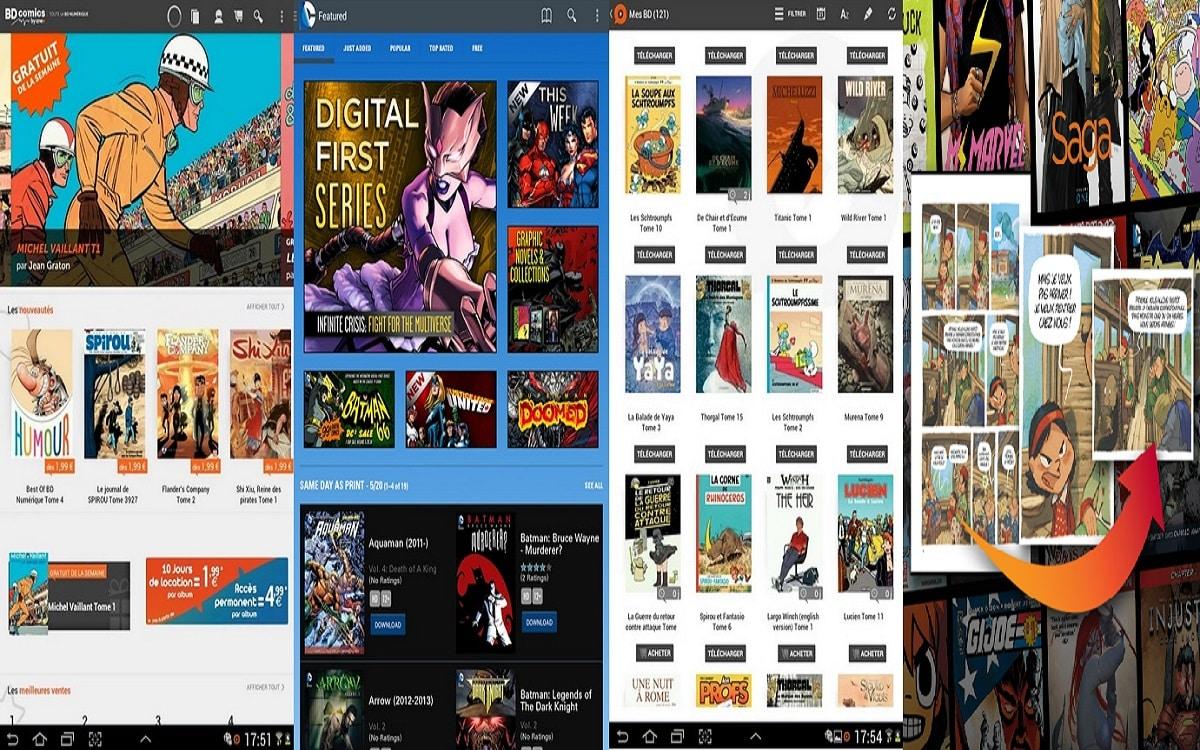 top 5 des applis android pour lire des bd mangas comicsandroid mt. Black Bedroom Furniture Sets. Home Design Ideas