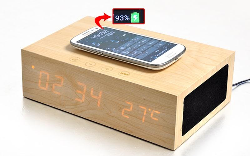 Réveil Bluetooth Recharge Sans Fil Qi