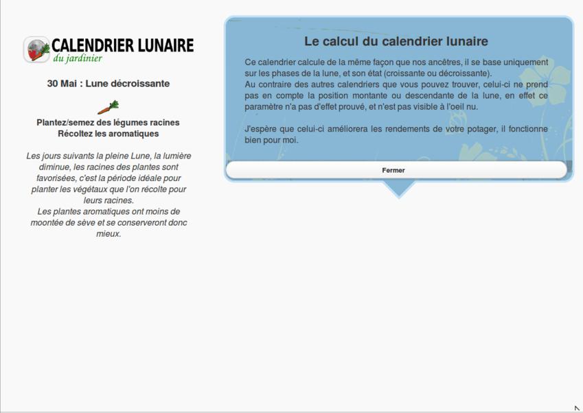 Calendrier lunaire jardiner au bon moment android mt for Savoir jardiner