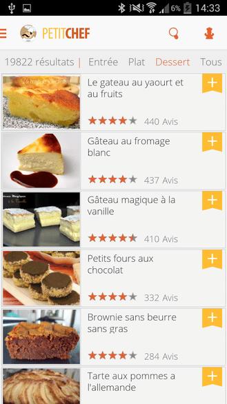 Ptitchef recettes de cuisineandroid mt - Application android cuisine ...
