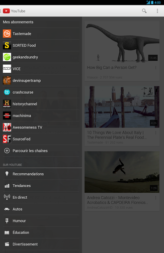 Youtube : L'application Officielle Pour Android