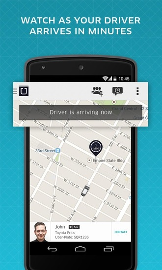 uber l 39 application de chauffeur priv. Black Bedroom Furniture Sets. Home Design Ideas