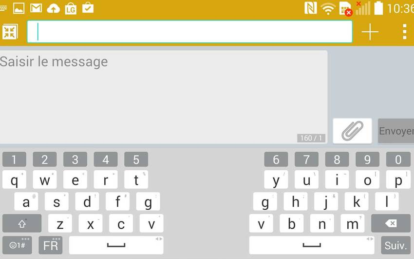 clavier LG G3