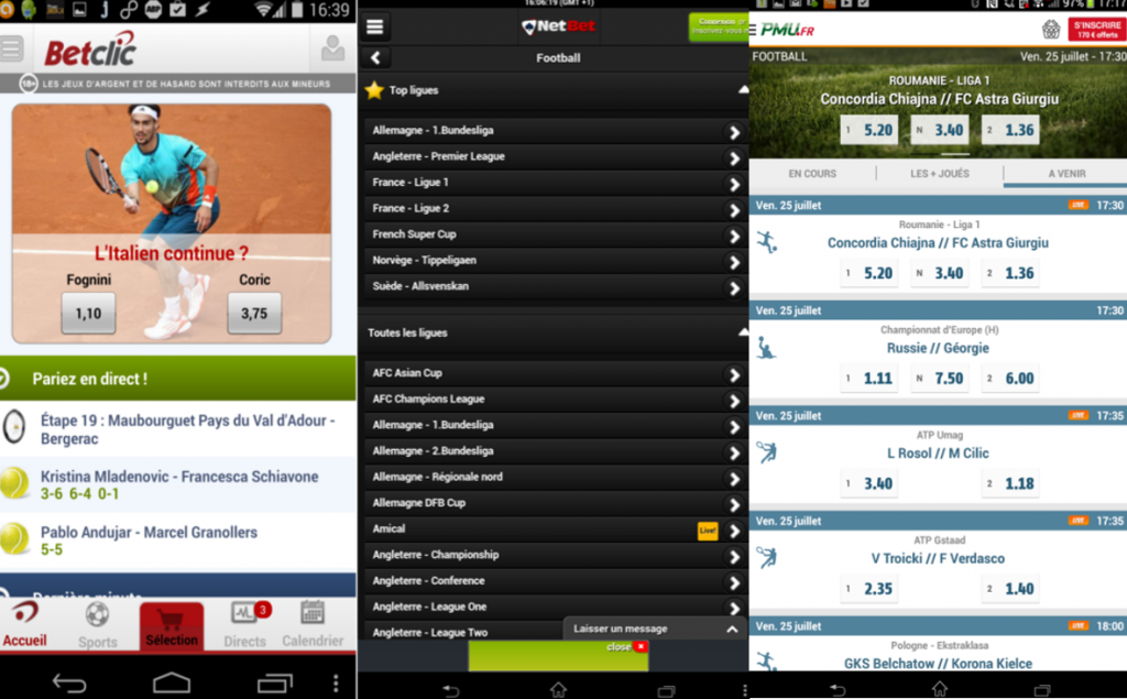 paris sportifs android