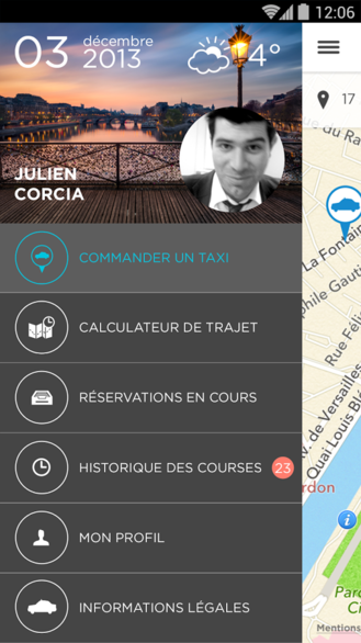 les taxis bleus pour appeler un taxi parisienandroid mt. Black Bedroom Furniture Sets. Home Design Ideas