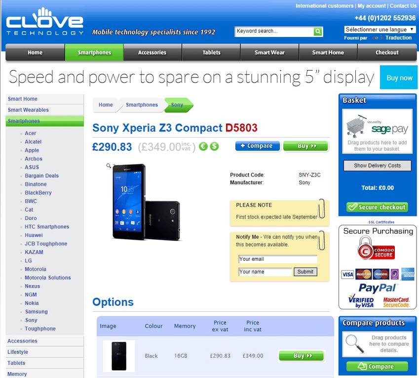Le sony xperia z3 compact moins cher que pr vu android mt - Le site de vente le moins cher ...