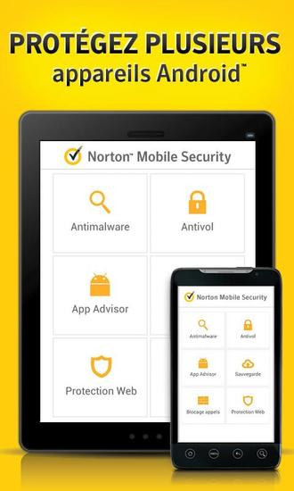 norton antivirus et s curit prot gez votre smartphone et tabletteandroid mt. Black Bedroom Furniture Sets. Home Design Ideas