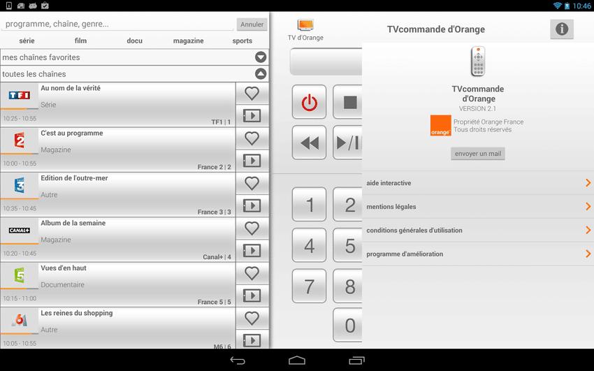 Tv commande d 39 orangeandroid mt - Application telecommande orange ...