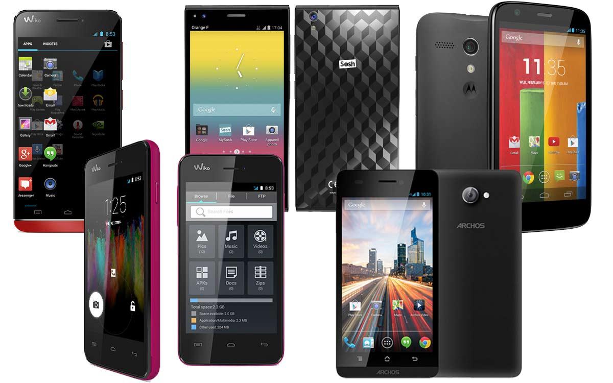 top 5 des smartphones moins de 200 android mt. Black Bedroom Furniture Sets. Home Design Ideas