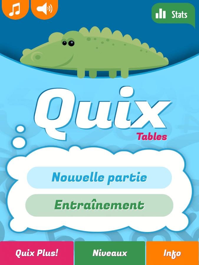Quix tables apprendre les tables de multiplicationandroid mt - Reviser ses tables de multiplication ...