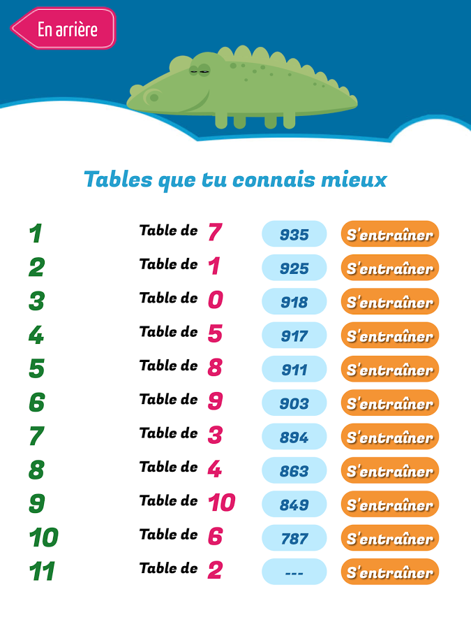 Quix tables apprendre les tables de multiplicationandroid mt for Apprendre ses tables
