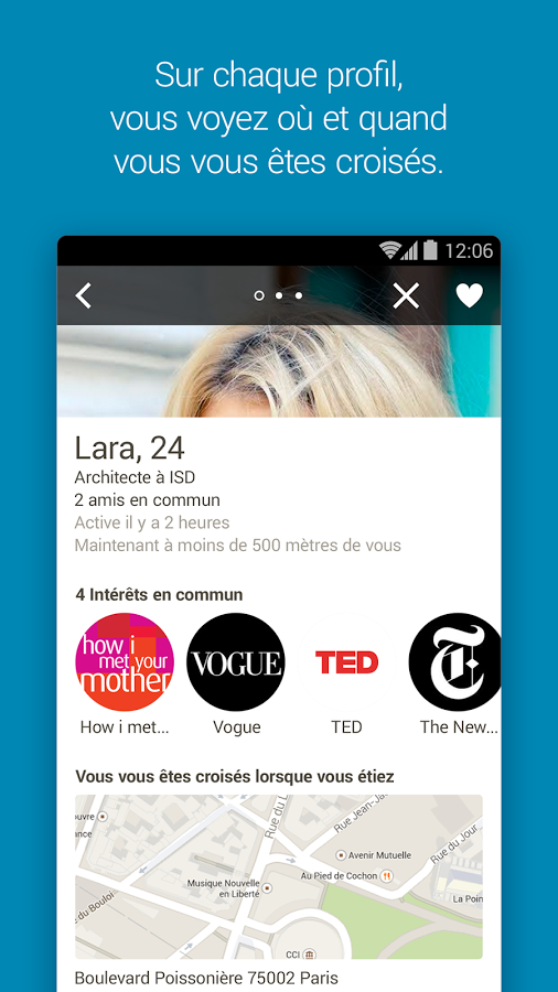 Applis rencontres android