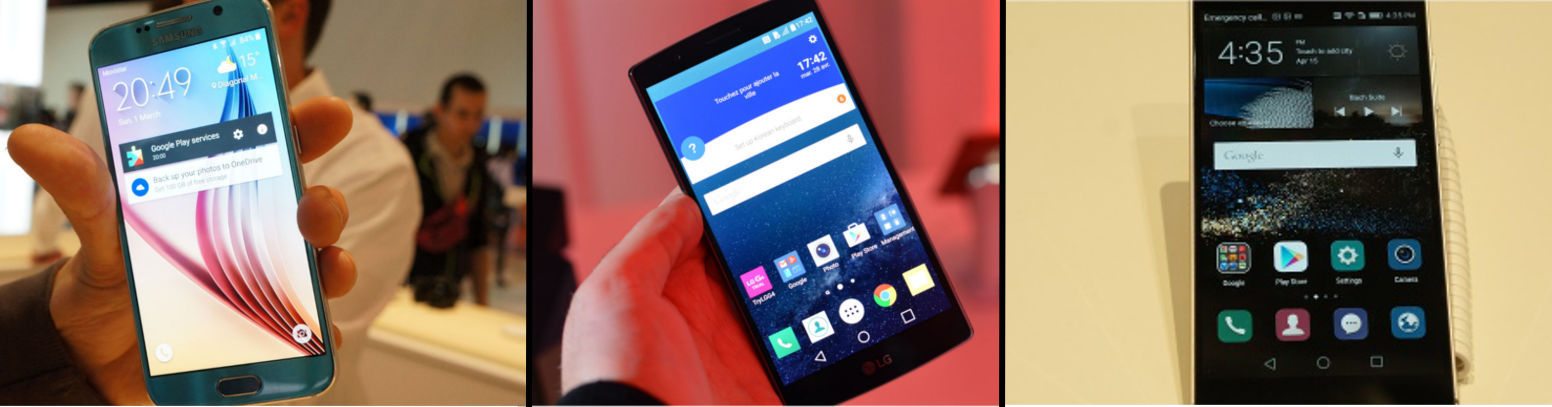 LG G4 vs Samsung Galaxy S6 Edge vs Huawei P8