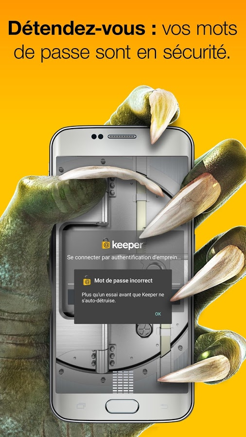 keeper password manager coffre fort num 233 rique android mt