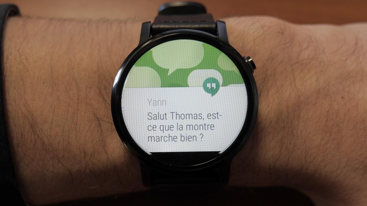 Un SMS sur la Moto 360 (2015)