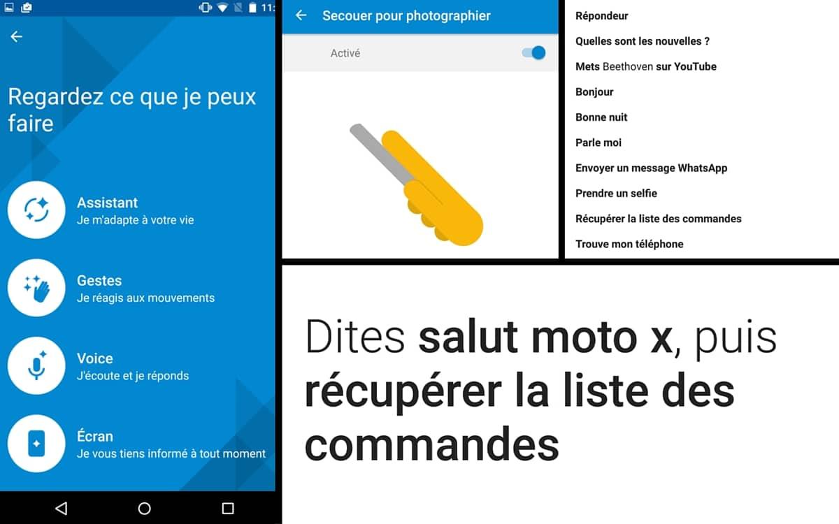 Moto X commandes vocales image une