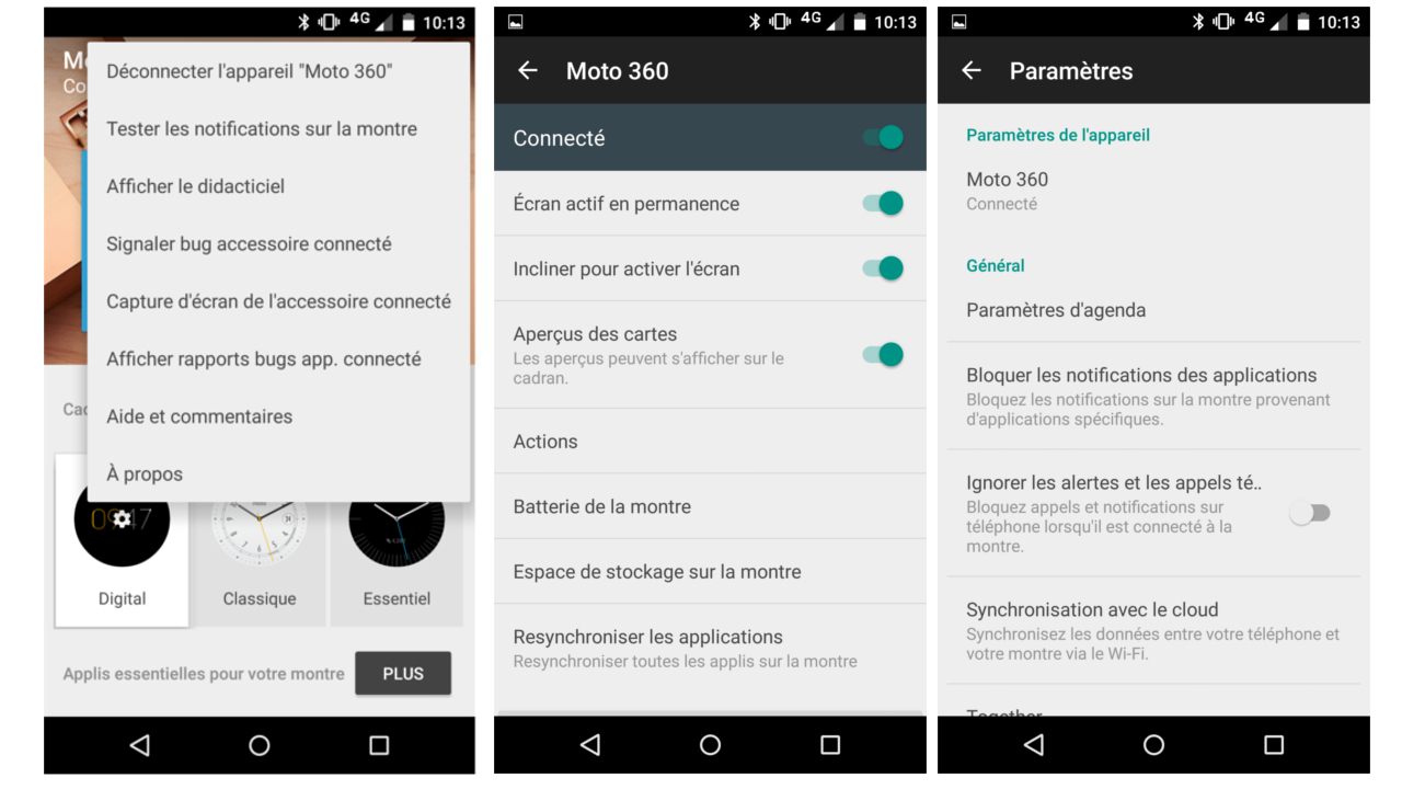 La gestion de la Moto 360 (2015) peut être compliquée