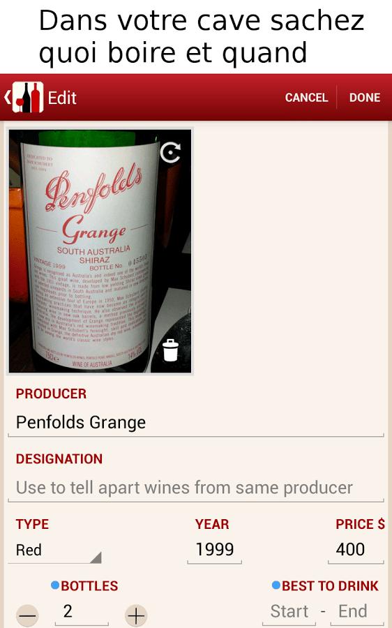 Ws vin et cave pour g rer sa caveandroid mt - Application cave a vin gratuite ...