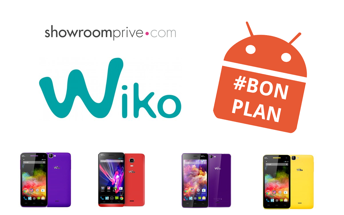 bon plan plusieurs smartphones wiko en vente priv e android mt. Black Bedroom Furniture Sets. Home Design Ideas