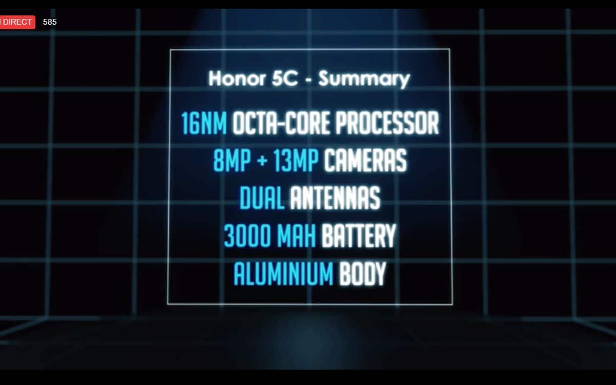 honor annonce un petit prix et une grosse autonomie pour son 5c