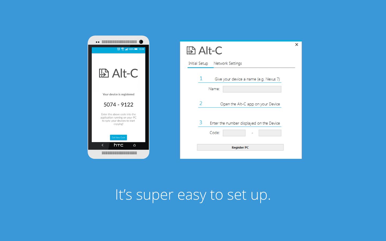 Alt-C : fait le lien entre ordinateur et smartphone   Android MT
