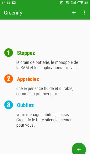 Appli Greenify