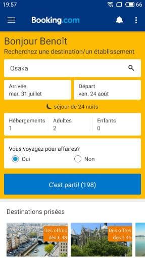 booking.com appli