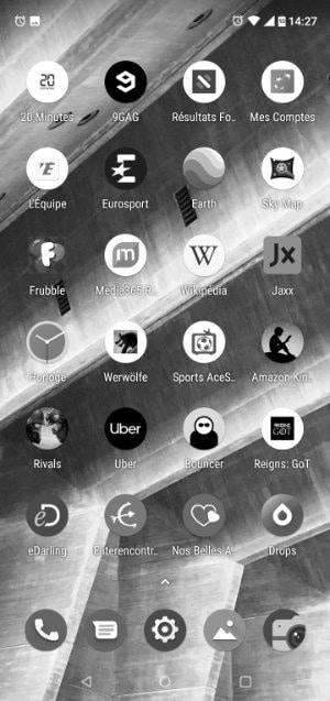 android noir et blanc