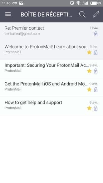 protonmail appli