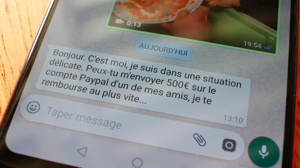arnaque whatsapp messenger