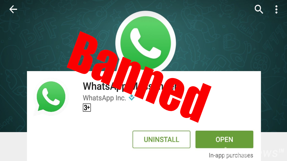 whatsapp bannissement